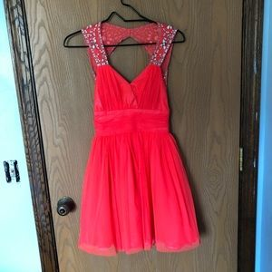Bright Peach Homecoming Dress